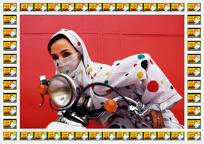 The hijab wearing motorcycle biker gang of Morocco!
